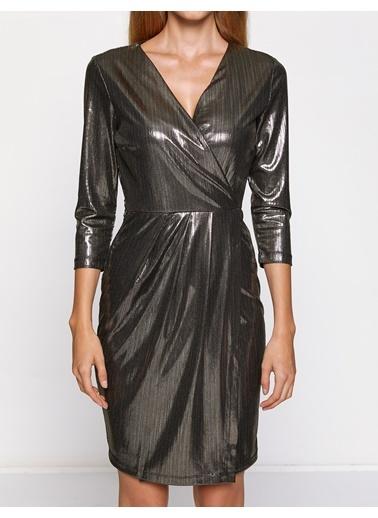 Truvakar Kol Detaylı Şık Elbise-Koton